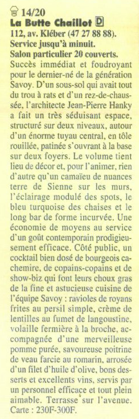 Article La Butte Chaillot